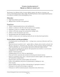 Receptionist Job Description Resume Sample by Receptionist Job Duties Resume Resume For Your Job Application