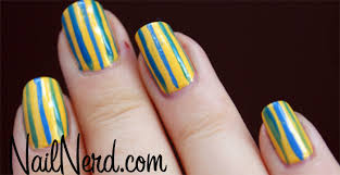 nail nerd nail art for nerds yellow and blue make green nails
