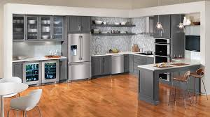 Warm And Grey Kitchen Cabinets Home Design Lover - Gray cabinets kitchen