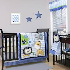 Baby Nursery Bedding Sets by Belle Baby Crib Bedding Set Blue Jungle Safari Animals Baby