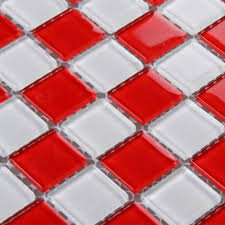 mosaic tile sheets kitchen backsplash cheap 3031 red and white