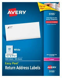 Avery 60 Labels Per Sheet Template by Avery 0 67 X 1 75 Laser Easy Peel White Address Labels