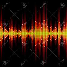 sound waveform seamless illustration royalty free cliparts