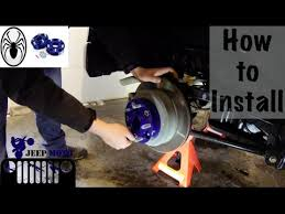 how to install spidertrax wheel spacers jeep wrangler youtube