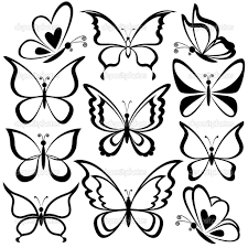 vector set of hand drawn butterflies butterflies pinterest