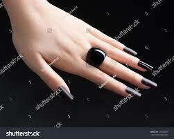 24 designs for black nail polish nail art designs with black nail