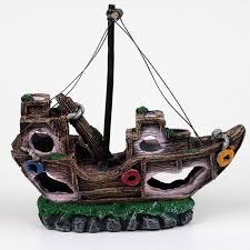 buy aquarium shipwreck decorations and get free shipping on
