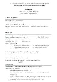 undergraduate resume template undergraduate resume sle skywaitress co
