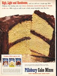 1953 pillsbury cake mix ad