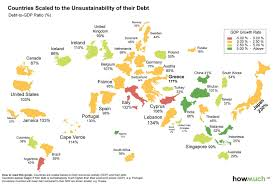 Map Of The World Countries Infographic The World Map Of Debt