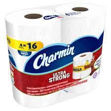 charmin ultra strong toilet paper 24 mega rolls walmart com