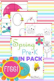 free spring prek fun pack pack year rounding and spring