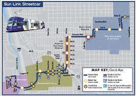 Map Of Tucson Streetcar Downtown Tucson Partnership