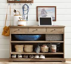 Wall Console Table Samantha Smart Technology Console Table Seadrift Pottery Barn