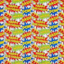 comic wrapping paper birthday comics wrapping paper the container store