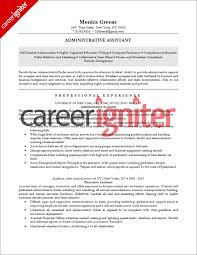 administrative assistant resume sle career igniter
