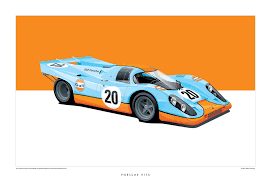 porsche prototype race cars iconic racing cars by arthur schening