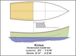 spira international inc kona hawaiian sampan wooden boat plans