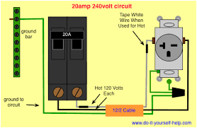 wiring diagram 20 amp 240 volt circuit more workshop reference