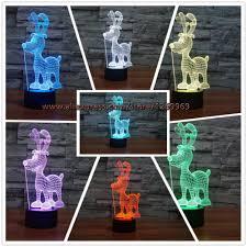 2017 3d kawaii cartoon dog with horn usb led lamp 7 colors change