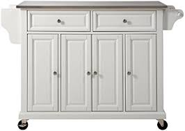 crosley furniture kitchen island amazon com crosley furniture rolling kitchen island with stainless