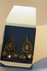 Colorful Chandelier Earrings Jewelry Avon Embellished Hematite Colored Chandelier Earrings