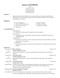 Scheduler Resume Examples by Medical And Lab Technicians Resume Examples Healthcare Resumes
