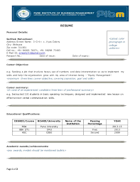 Resume Example For Freshers Engineers by 1 Page Resume Format For Freshers Contegri Com