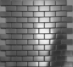 brick silver metal mosaic tiles smmt017 stainless steel wall tile
