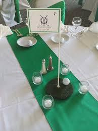 themed table numbers golf themed wedding at idlewild country club in flossmoor il golf