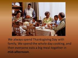 thanksgiving is one of the most important holidays in the united