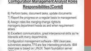 Ba Roles And Responsibilities What Does Configuration Management Analyst Do Youtube