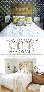 How To Make Headboard To Make A Wood Plank Headboard
