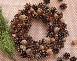 Pine Cone Home Decor Pine Cone Wreath Etsy