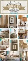 color series decorating with burlap natural tan hessian and teal