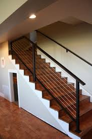 latest basement stairs railing gallery home railing inspirations