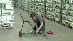 how to adjust the height on a scotts classic reel mower youtube