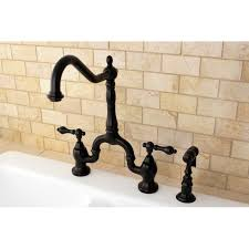 bridge kitchen faucets high spout rubbed bronze bridge handle