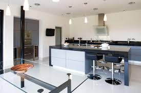 Kitchen Design Northern Ireland by Contemporary Kitchens High Gloss Cross Grain Veneer Armagh