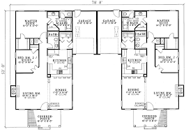 southern traditional duplex home plan 59320nd architectural
