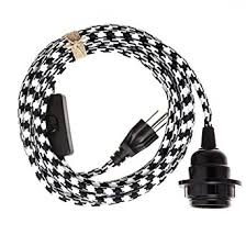 swag light hanging pendant light cord kit by color cord company