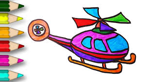 how to draw a helicopter coloring pages for kids from mr cute