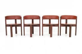 Walnut Dining Room Chairs Vintage Italian Leather U0026 Walnut Dining Room Chairs By Cassina
