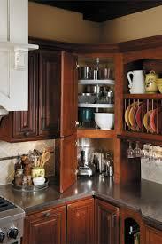 Kitchen Furniture Corner Cabinet Super Susan Doors Open Unusual - Corner cabinet for rv
