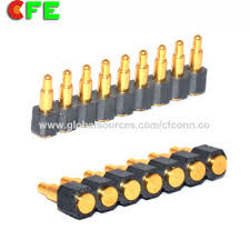 china 7 pin flat spring loaded pin connector with 2 54mm pitch