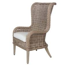 wicker dining chairs bellevue wingback host dining chair