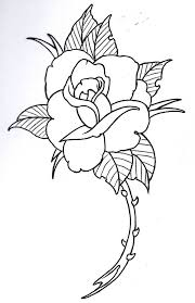 skull thorns rose ink tattoo outline tattoo ideas clipart