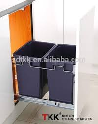 Kitchen Cabinet Trash Can Double Pull Out Built In Kitchen Cabinet Trash Bin View Kitchen