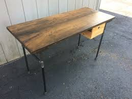 Industrial Standing Desk by Sturdy Sentiments Desk Reclaimed Wood Industrial Desk With
