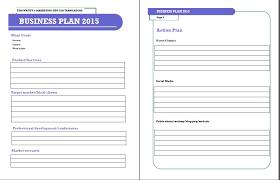 one page business plan template sample one page business plan